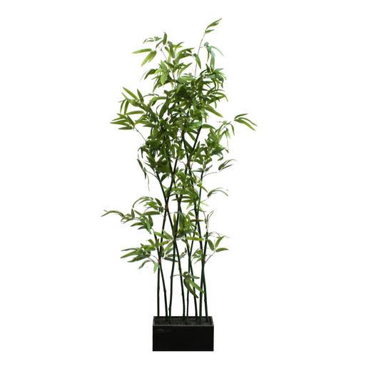 KUNSTPFLANZE Bambus - Dunkelgrün/Grün, Basics, Kunststoff (150cm)