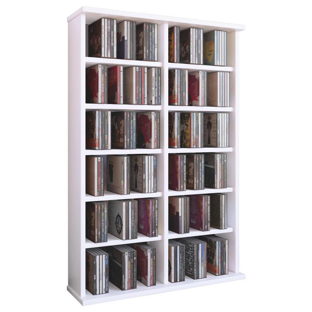 XXXL CD-REGAL Weiß | Wohnzimmer > TV-HiFi-Möbel > CD- & DVD-Regale | Holzwerkstoff | XXXL Shop