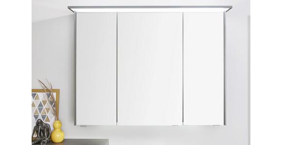 BADEZIMMER Dunkelgrau, Eichefarben - Dunkelgrau/Eichefarben, Design, Glas/Keramik (91cm) - Dieter Knoll