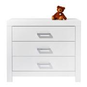 KOMMODE Weiß - Silberfarben/Weiß, Basics, Metall (110/91,9/55,3cm) - PAIDI