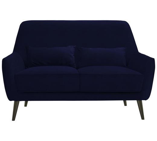 ZWEISITZER-SOFA in Textil Blau - Blau/Schwarz, Trend, Holz/Textil (135/86/80cm) - Carryhome