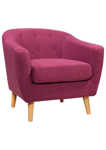 FOTELJ,  vijolična les, tekstil - vijolična, Design, tekstil/les (81/74/75cm) - Ti`me