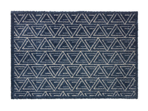 FUßMATTE 50/70 cm - Dunkelblau, Design, Textil (50/70cm) - Schöner Wohnen