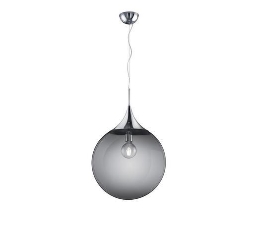 HÄNGELEUCHTE - Chromfarben/Grau, Design, Glas/Metall (45/150cm)