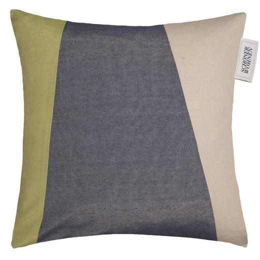 KISSENHÜLLE Grau, Hellgrün, Naturfarben 48/48 cm - Hellgrün/Naturfarben, Basics, Textil (48/48cm) - Schöner Wohnen