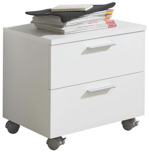ROLLCONTAINER Weiß - Chromfarben/Weiß, Design, Kunststoff (51/43/39cm) - Xora