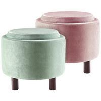 HOCKER in Holzwerkstoff, Textil Rosa - Naturfarben/Rosa, Trend, Holzwerkstoff/Textil (48,5/40cm) - Ambia Home