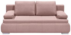 SCHLAFSOFA in Textil, Holzwerkstoff Rosa  - Pink/Silberfarben, KONVENTIONELL, Holzwerkstoff/Kunststoff (208/95/105cm) - Carryhome