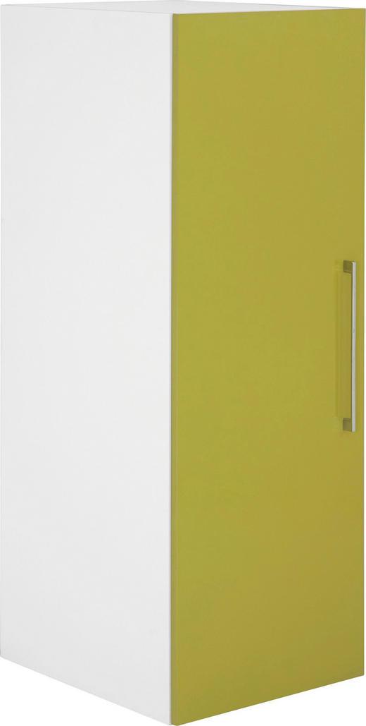 KLEIDERSCHRANK 1  -türig Grün, Weiß - Chromfarben/Weiß, Design, Holzwerkstoff/Kunststoff (50/144/57cm) - CARRYHOME
