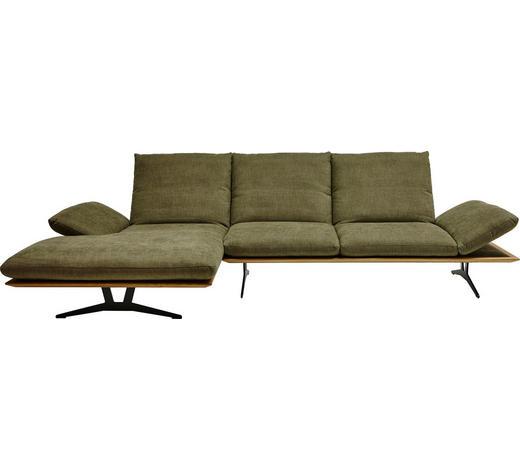 WOHNLANDSCHAFT in Textil Grün - Schwarz/Grün, Design, Textil/Metall (159/314cm) - Dieter Knoll