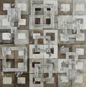 OLJEMÅLNING - multicolor, Basics, trä/textil (85/85cm) - Monee