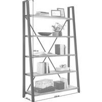 REGÁL - černá/přírodní barvy, Trend, kov/dřevo (120/190/40cm) - Ambia Home