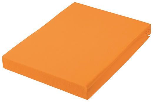 SPANNBETTTUCH Jersey Orange bügelfrei, für Wasserbetten geeignet - Orange, Basics, Textil (150/200cm) - Esposa
