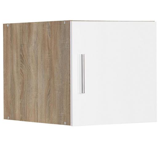 NÁSTAVEC NA SKŘÍŇ, bílá, barvy dubu - bílá/barvy dubu, Design, kompozitní dřevo/umělá hmota (40/40/54cm) - Xora