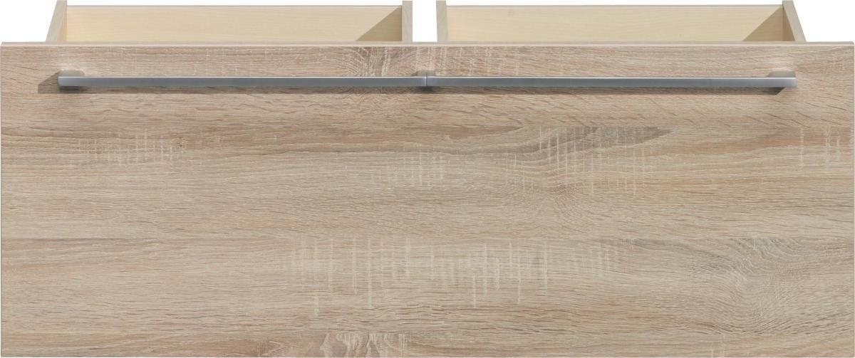 DOPPELSCHUBLADE 86/32/51 cm Eichefarben - Eichefarben/Silberfarben, Design, Kunststoff (86/32/51cm) - CS SCHMAL