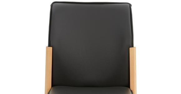 STUHL in Holz, Leder Buchefarben, Grau - Buchefarben/Grau, Natur, Leder/Holz (50/88/55cm) - Valnatura