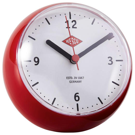 TISCHUHR  Rot - Rot, Basics, Kunststoff (12,5/12cm) - Wesco