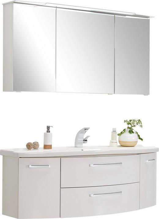 BADEZIMMER Weiß - Weiß, KONVENTIONELL (140cm) - Xora