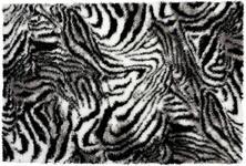 Webteppich Shila 80x150 cm - Schwarz/Weiß, KONVENTIONELL, Textil (80/150cm) - Ombra