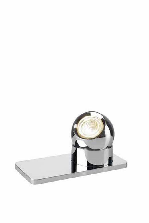TISCHLEUCHTE - Chromfarben, Design, Metall (16/7cm)