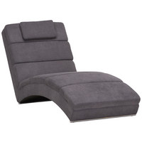 RELAXAČNÍ POHOVKA, šedá, textil - šedá/barvy chromu, Design, textil/umělá hmota (75/85/175cm) - Carryhome
