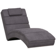 VÁLENDA - šedá/barvy chromu, Design, textil/umělá hmota (75/85/175cm) - CARRYHOME