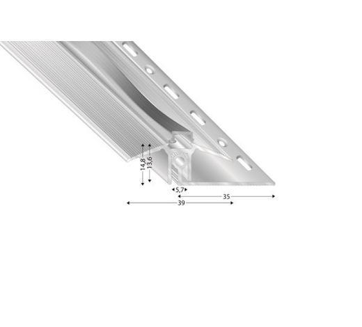 TÜRPROFIL - Silberfarben, Basics, Metall (270cm)