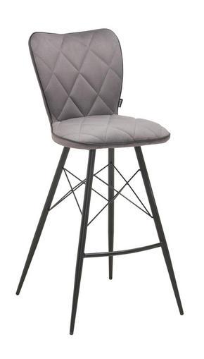 BARPALL - grå/svart, Design, metall/textil (43,5/106,5/53cm) - Hom`in
