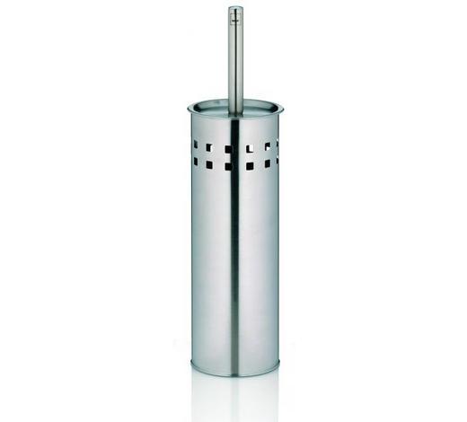 WC-BÜRSTENGARNITUR - Edelstahlfarben, Basics, Metall (10/38cm) - Kela