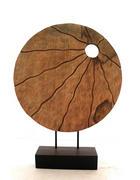 PLASTIKA - černá/přírodní barvy, Natur, kov/dřevo (45,5/60,5/9cm) - Ambia Home