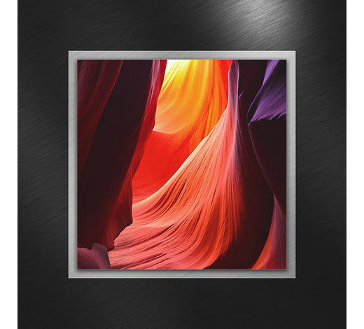 GLASBILD - Multicolor, KONVENTIONELL, Glas/Metall (50/50/3,50cm)
