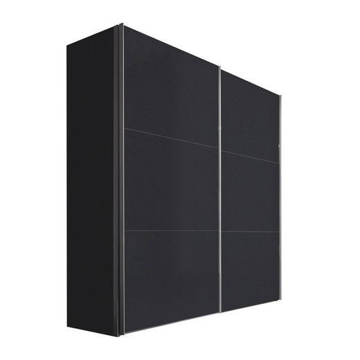 SCHWEBETÜRENSCHRANK 2  -türig Graphitfarben - Graphitfarben/Alufarben, KONVENTIONELL, Holzwerkstoff/Metall (200/216/68cm) - Hom`in