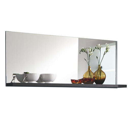 SPIEGEL - Graphitfarben, Design, Glas/Holzwerkstoff (120/50/20cm) - Xora