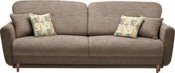 DREISITZER-SOFA in Textil Hellbraun - Hellbraun/Multicolor, Design, Holz/Textil (235/87/98cm) - Hom`in