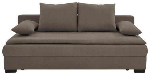 SCHLAFSOFA in Textil Taupe - Taupe/Schwarz, KONVENTIONELL, Kunststoff/Textil (207/74-94/90cm) - Venda