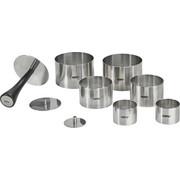 Speiseringe Set FORMIDABLE - Edelstahlfarben, Basics, Metall - Gefu