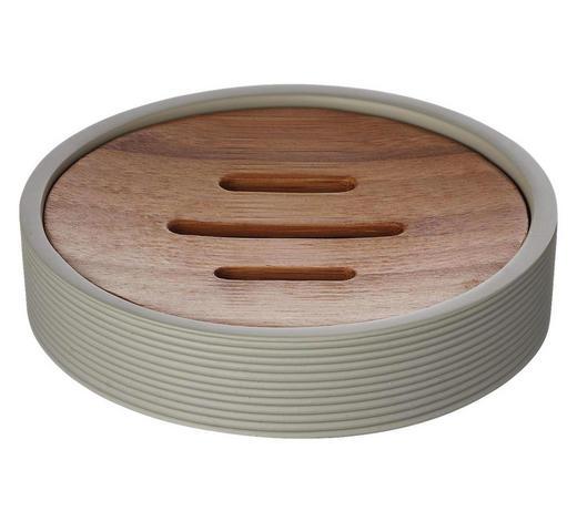 MÝDLENKA, béžová - béžová, Basics, dřevo/umělá hmota (11/2,5/11cm) - Sadena