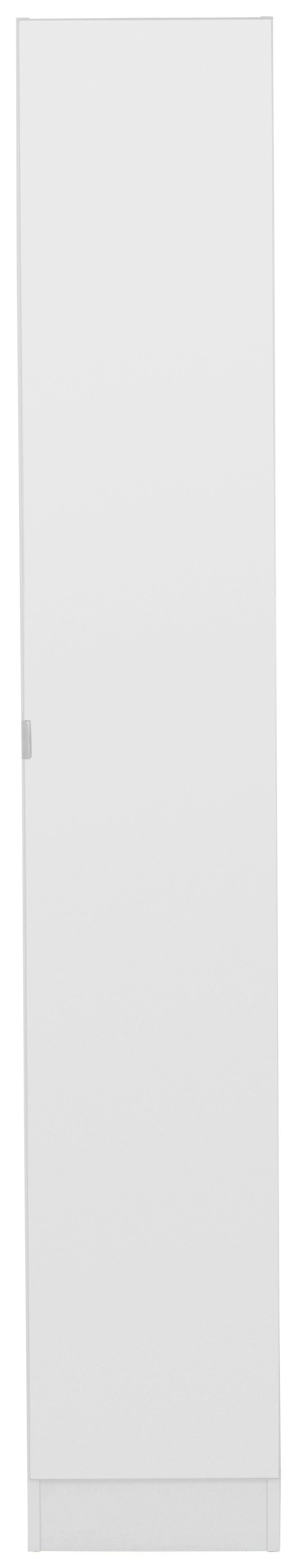 HOCHSCHRANK - Chromfarben/Weiß, Design, Glas/Holzwerkstoff (32,5/195,5/33cm) - XORA