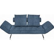 ROZKLÁDACÍ POHOVKA, modrá, kov, textilie, - modrá/barvy chromu, Design, kov/textilie (210/68/90cm) - Innovation