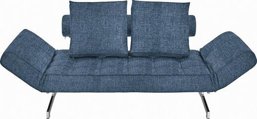 SCHLAFSOFA Blau - Blau/Chromfarben, Design, Textil/Metall (210/68/90cm) - Innovation