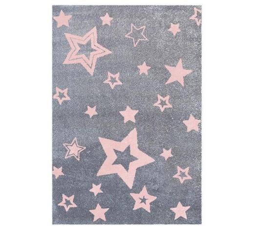 KINDERTEPPICH  100/160 cm  Grau, Rosa   - Rosa/Grau, Basics, Textil (100/160cm)