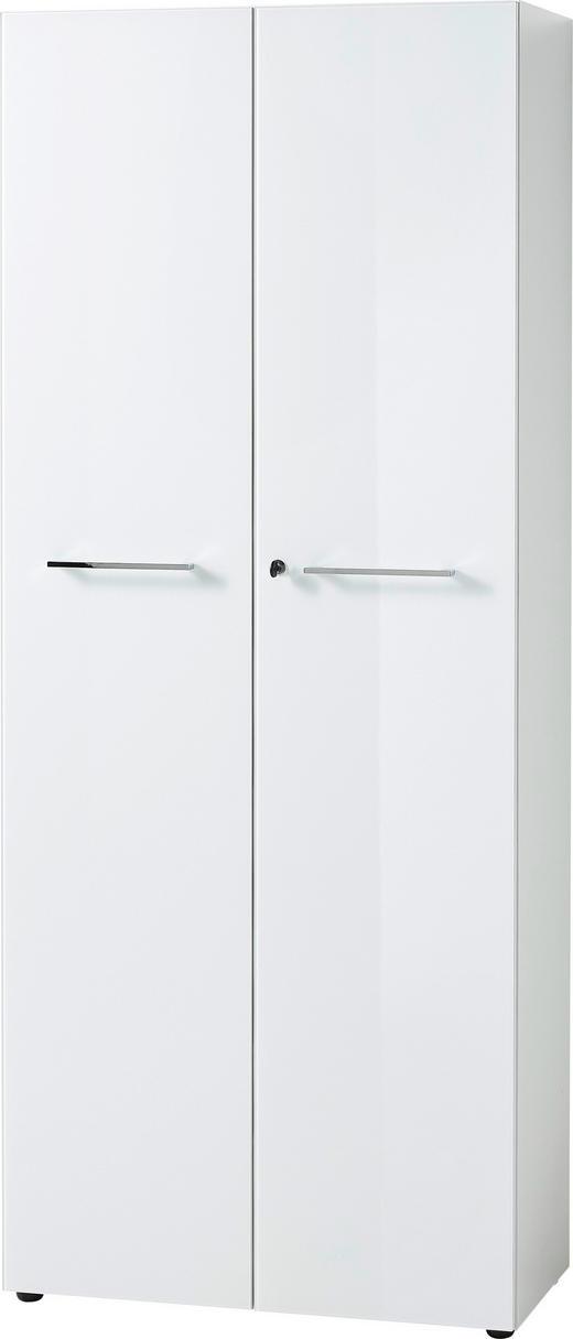 AKTENSCHRANK Weiß - Weiß, MODERN, Glas/Holzwerkstoff (80/196/37cm)
