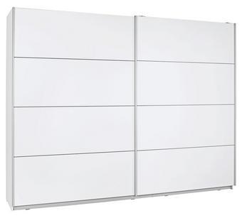 SCHWEBETÜRENSCHRANK in Weiß - Silberfarben/Weiß, Design, Holzwerkstoff/Metall (270/210/61cm) - Ti`me