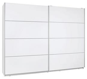 SKJUTDÖRRSGARDEROB - vit/silver, Design, metall/träbaserade material (220/210/61cm) - Low Price