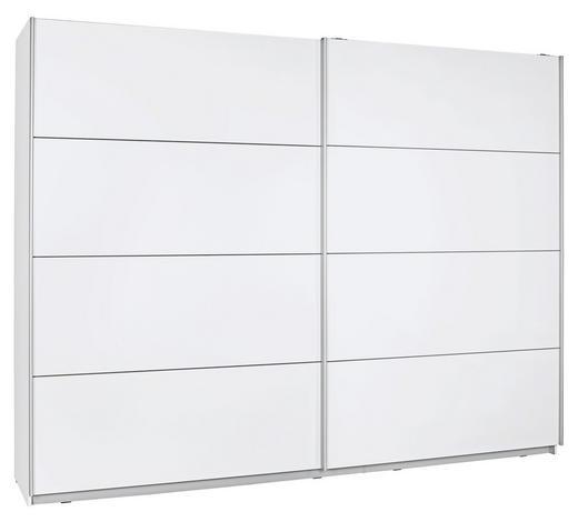 SKŘÍŇ S POSUVNÝMI DVEŘMI, bílá - bílá/barvy stříbra, Design, kov/kompozitní dřevo (200/210/61cm) - Ti`me