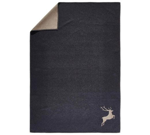 WOHNDECKE 140/200 cm - Anthrazit, LIFESTYLE, Textil (140/200cm) - David Fussenegger