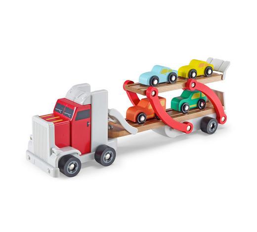 AUTOTRANSPORTER - Multicolor, Basics, Holz/Kunststoff (37,7/9,2/13,5cm) - My Baby Lou
