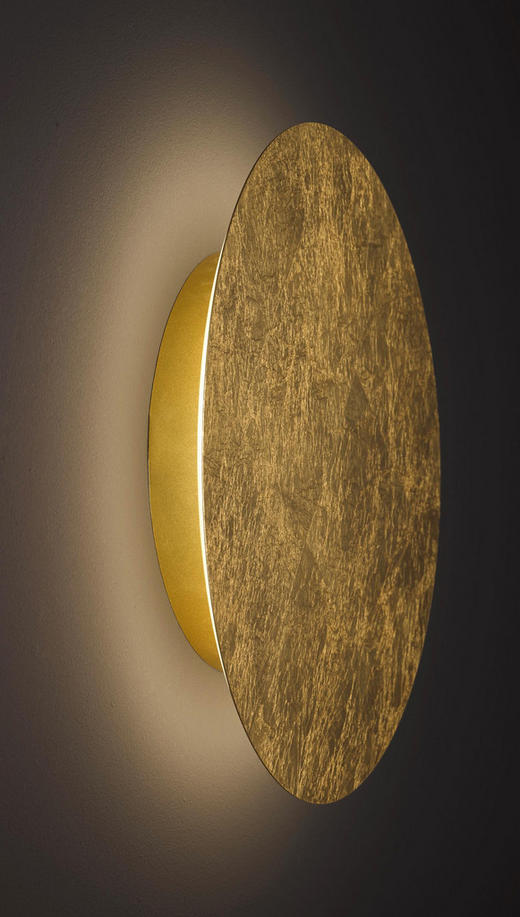 LED-WANDLEUCHTE - Goldfarben, MODERN, Metall (40/6,2/40cm) - Wofi
