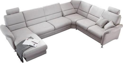 WOHNLANDSCHAFT - Alufarben/Grau, KONVENTIONELL, Textil/Metall (165/334/244cm) - BELDOMO SYSTEM