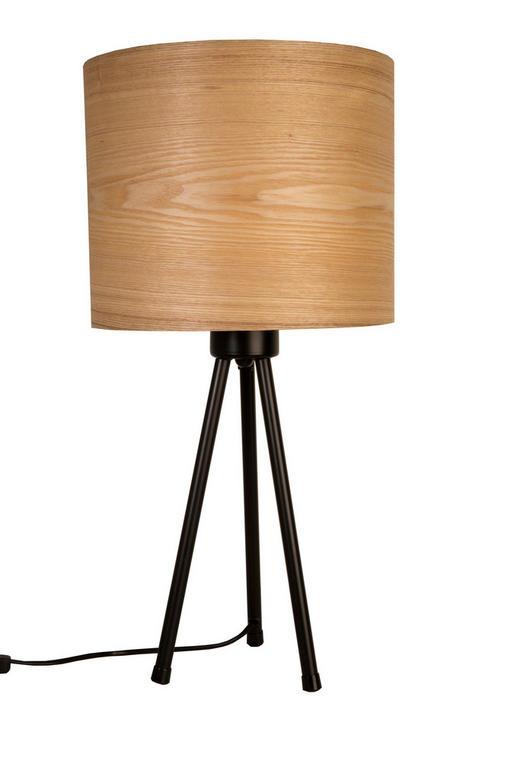 TISCHLEUCHTE - Schwarz, LIFESTYLE, Holz/Metall (30/30/60cm)